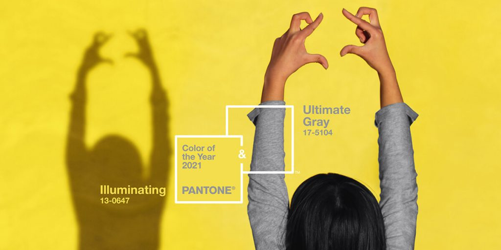 The Pantone Colors of the Year for 2021 are Illuminating and Ultimate Gray