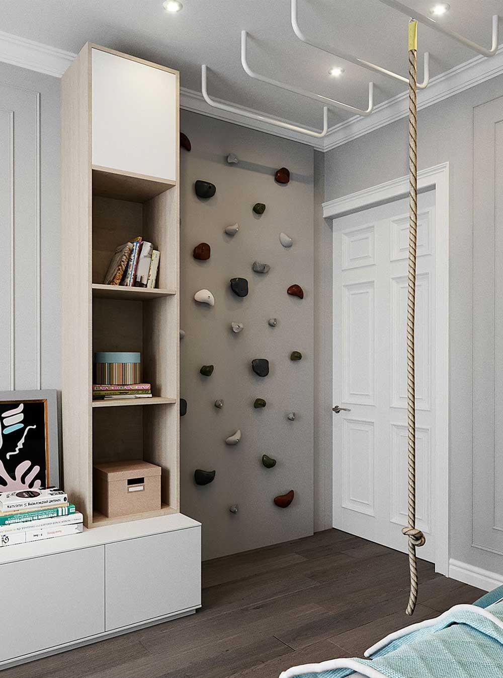 Kids-Bedroom-Ideas - Climbing-wall-fun