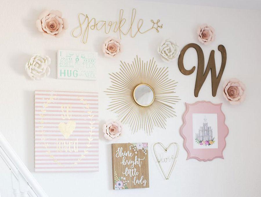 Girls Room Ideas - Create A Gallery Wall